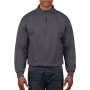 Gildan Sweater 1/4 Zip HeavyBlend Tweed XXXL