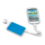 Powerbank 3 in 1 3000mAh wit / licht blauw