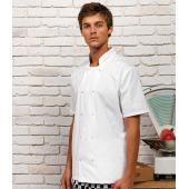 Unisex Short Sleeve Stud Front Chef's Jacket