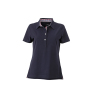 Ladies' Plain Polo navy/rood-navy-wit