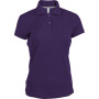 Damespolo korte mouwen purple 3xl