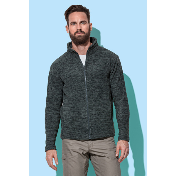 Stedman Melange Fleece Cardigan for him