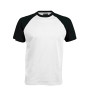 BASE BALL > T-SHIRT BICOLORE MANCHES COURTES white / black M