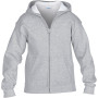 Heavy blend™classic fit youth full zip hooded sweatshirt sport grey '7/8 (m)