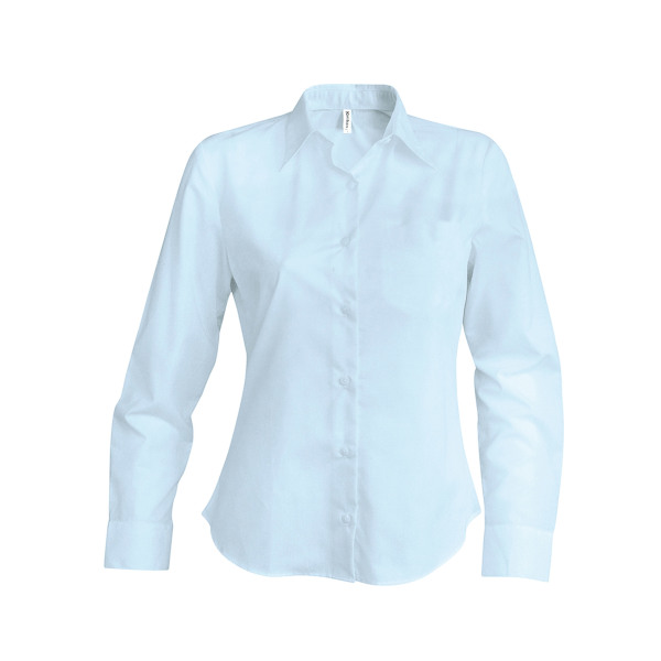Dames oxford blouse lange mouwen