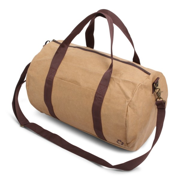 Washed Kraft Dufflebag Brown
