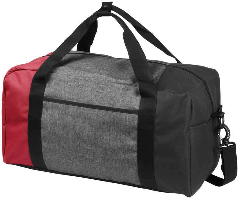 "Three way kleurenblok 19"" duffel bag - Rood"
