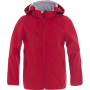 Clique Basic Softshell Jacket Junior rood 110/120