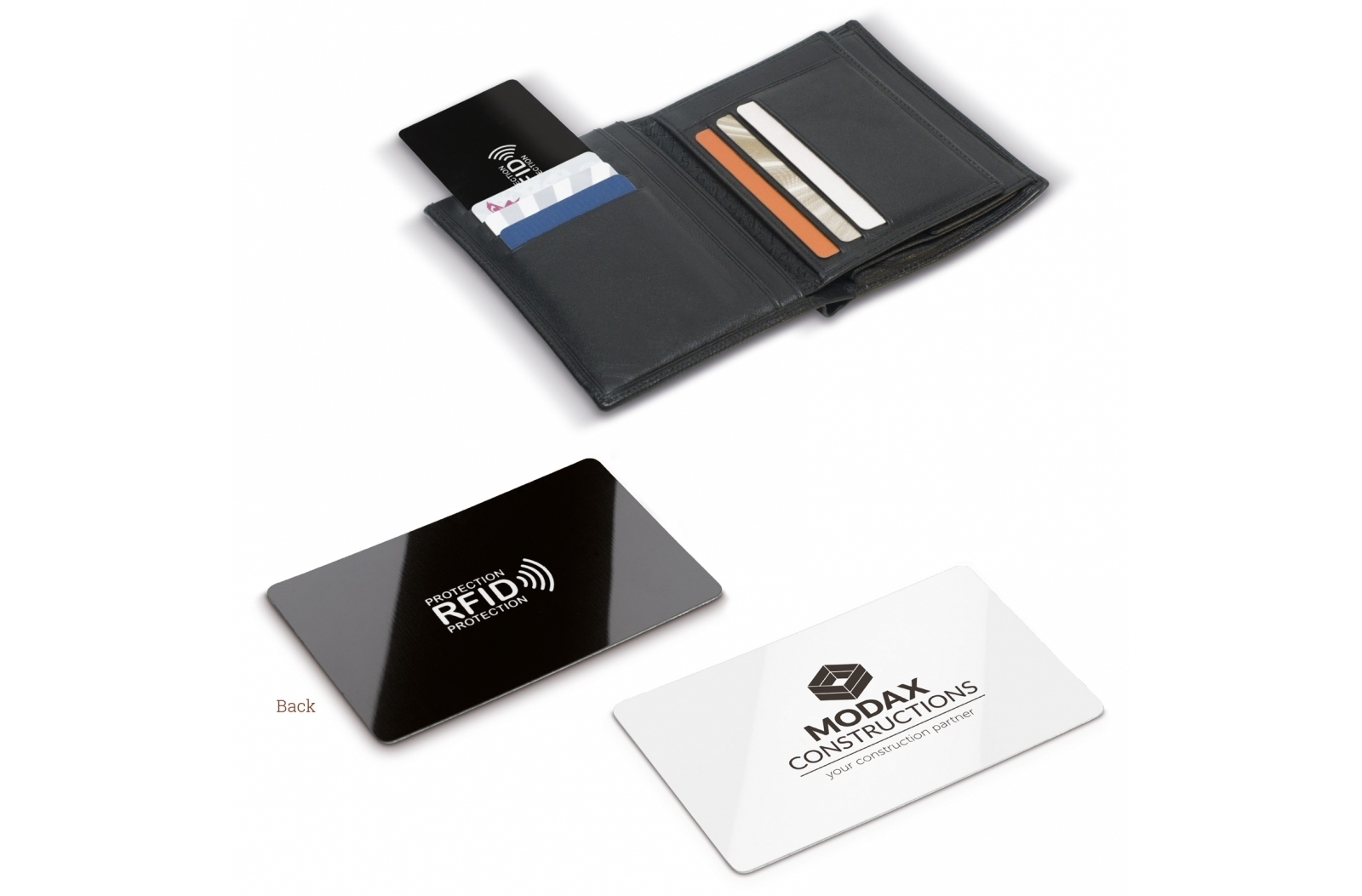 RFID anti skim card zwart / wit