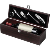 Wooden wine gift set