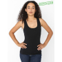 AMA Tanktop Cot/Spandex For Her Black- 30% korting XS