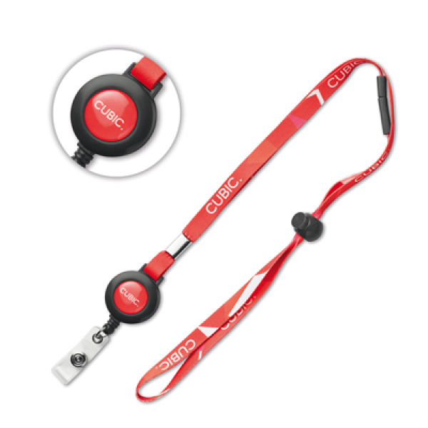 Sublimation lanyard with badge reel