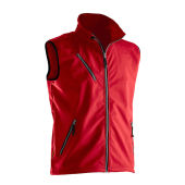 Jobman 7502 Light softshell vest rood 4xl