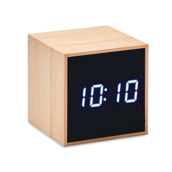 MARA CLOCK - LED alarm clock bamboo casing