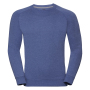Adults HD Raglan Sweat, Blue Marl, L, RUS
