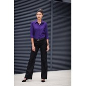 Ladies flat front bootleg trousers