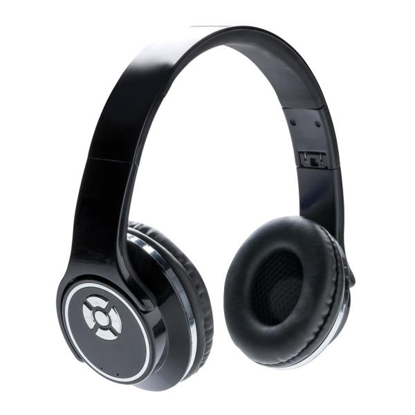 Headphones and speaker, black