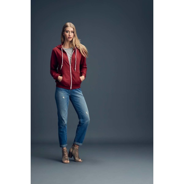 Anvil Sweater Hooded Zip for her