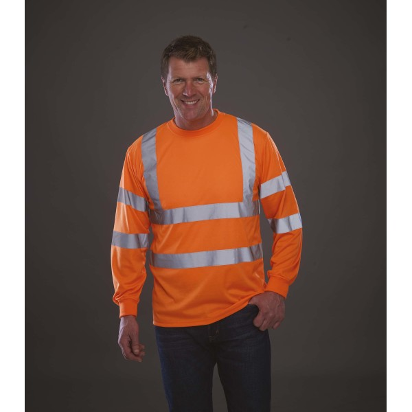 Hi-vis long-sleeved t-shirt