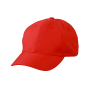 6-Panel Polyester Peach Cap One Size Tomato
