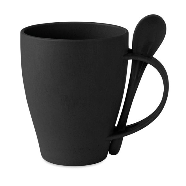 DUAL FIBRE - Mug with spoon bamboo fibre/PP