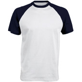 Baseball - tweekleurig t-shirt white / navy s