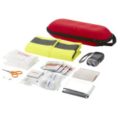 46 piece first aid kit and professional safety vest