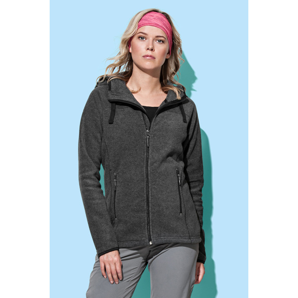 Stedman Power Fleece Cardigan Hooded Activ for her