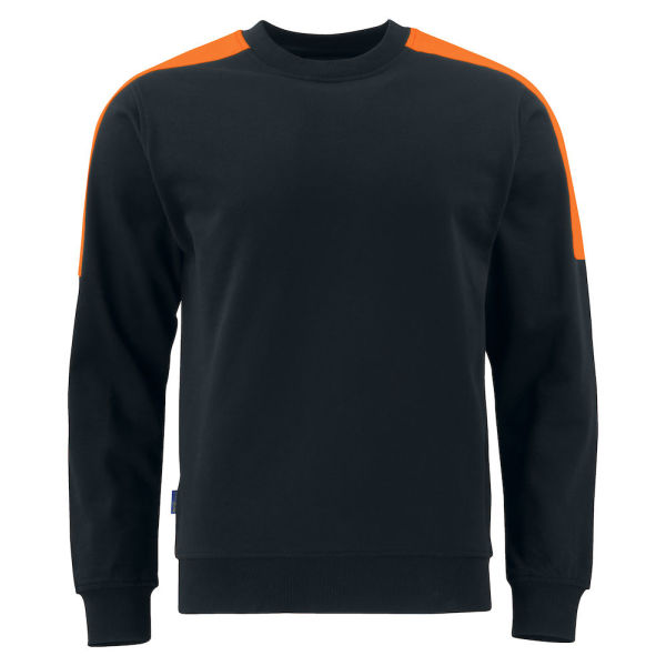 2125 SWEATSHIRT Black/Orange 4XL