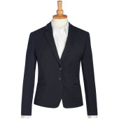 Calvi slim fit jacket black 46 eu (18 uk)