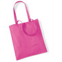Bag for life - long handles fuchsia one size