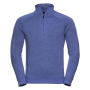 Adults HD 1/4 Zip Sweat, Blue Marl, L, RUS