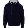 Heavy blend™ classic fit adult contrast hooded sweatshirt navy / sport grey xl