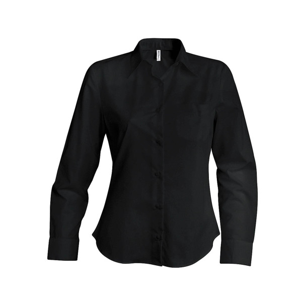 Dames stretch blouse lange mouwen