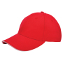 Canvas Sandwich Cap Rood acc. Wit