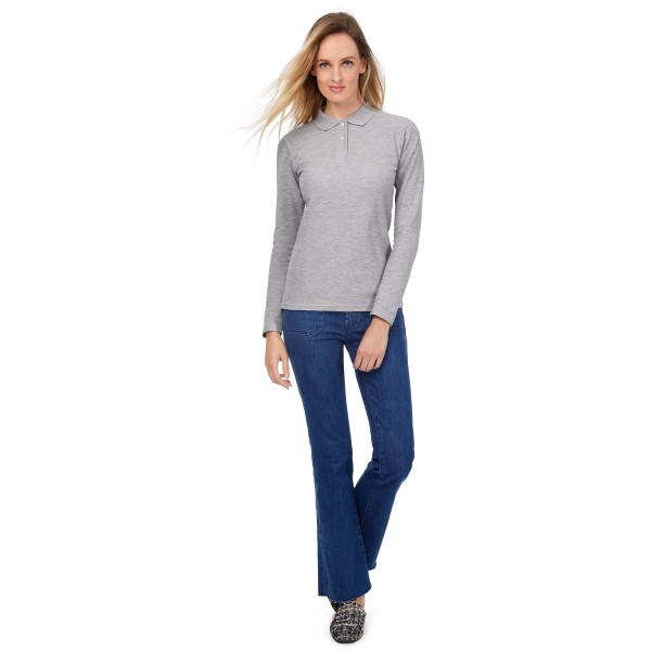 Id.001 ladies' long-sleeve polo shirt