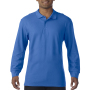 Gildan Polo Premium Cotton Double Pique LS for him Royal Blue S