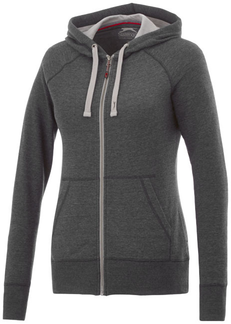 Groundie dames sweater met volledige rits - Heather Smoke - S