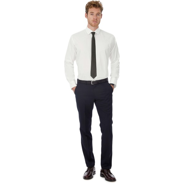 Black tie men's stretch shirt