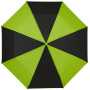 "21"" Spark 3-section duo tone umbrella - solid black,Green"