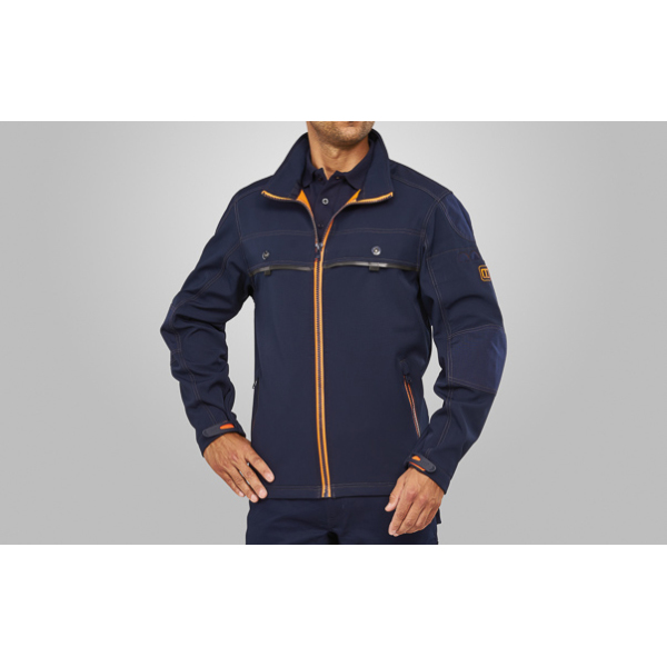 Macseis Jacket Softshell Proneon Blue Navy/OR