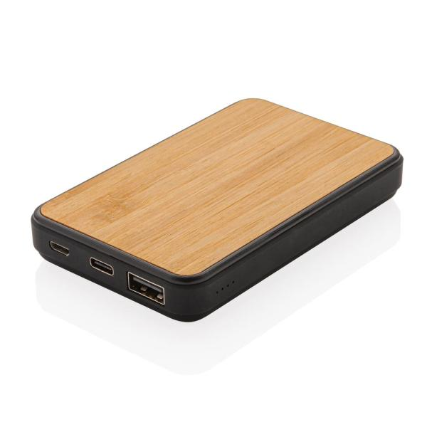 Bamboe 5.000 mAh zakformaat fashion powerbank