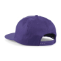 5 Panel Snapback Rapper Cap - Purple