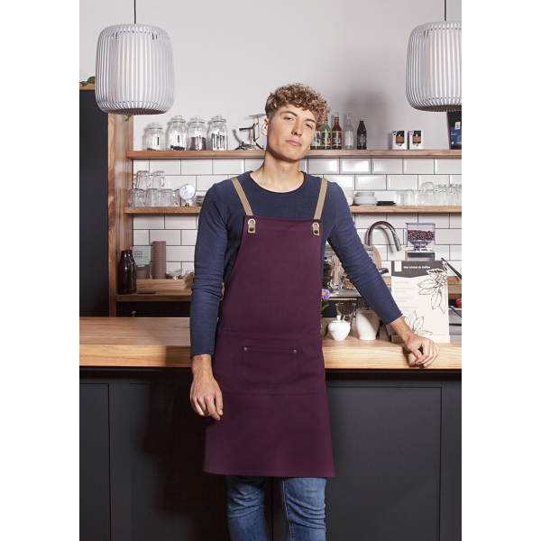 Bib Apron Urban-Nature with Cross Straps and Big Pocket 70 x 85 cm