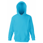 Kids Classic Hooded Sweat, Azure Blue, 14-15jr, FOL