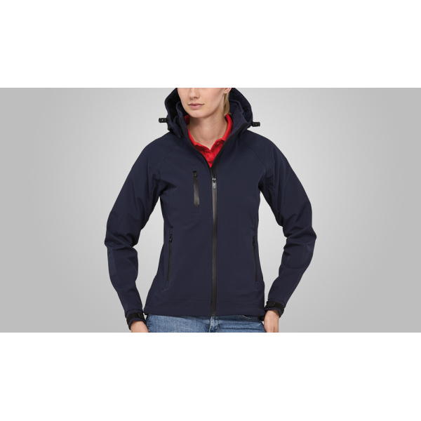 Macseis Jacket Softshell Safari for her Blue Navy