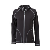 Ladies' Stretchfleece Jacket - zwart/zilver