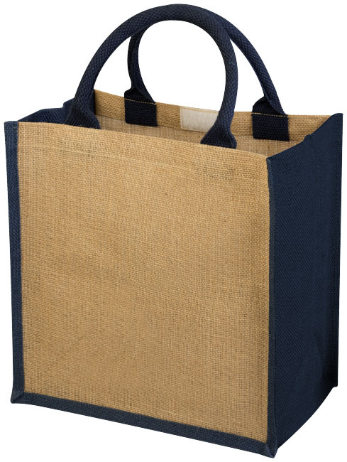 Chennai juten tas - Naturel,Navy