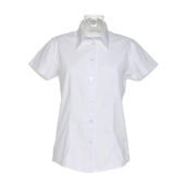 Dames Workforce Poplin Shirt met Korte mouwen