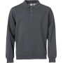 Clique Basic Polo Sweater antraciet melange xxl